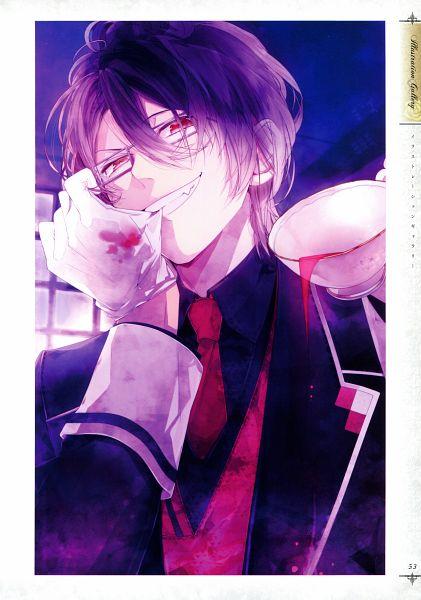 Tags: Anime, IDEA FACTORY, Rejet, Diabolik Lovers ILLUSTRATIONS, Diabolik Lovers ~Haunted dark bridal~, Sakamaki Reiji, Replacement, Scan, Mobile Wallpaper, Official Art