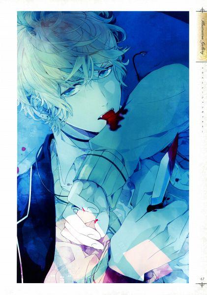 Tags: Anime, IDEA FACTORY, Rejet, Diabolik Lovers ILLUSTRATIONS, Diabolik Lovers ~Haunted dark bridal~, Sakamaki Shuu, Mobile Wallpaper, Official Art, Replacement, Scan