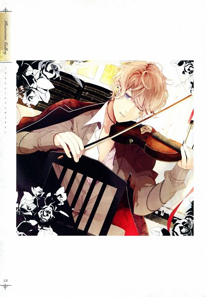 Tags: Anime, Satoi, IDEA FACTORY, Rejet, Diabolik Lovers ILLUSTRATIONS, Diabolik Lovers ~Haunted dark bridal~, Sakamaki Shuu, Playing Violin, Official Art, CD (Source), B's LOG, Magazine (Source), Mobile Wallpaper