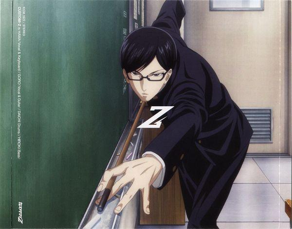 Tags: Anime, Studio DEEN, Sakamoto desu ga?, Sakamoto (Sakamoto desu ga), Chalkboard, Board, CD (Source), Official Art, Scan
