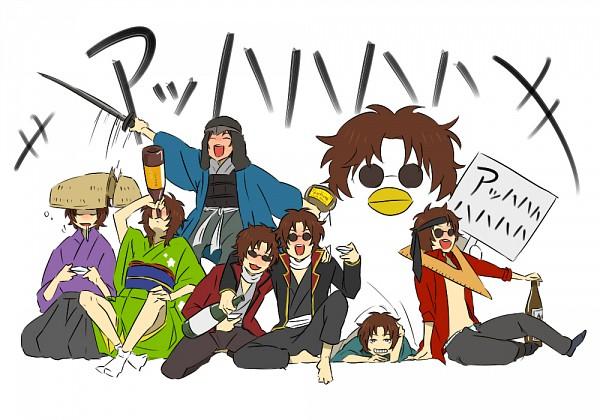 Tags: Anime, Pixiv Id 877809, Gintama, Sakamoto Tatsuma, Bird Costume, Ruler, Renho Costume