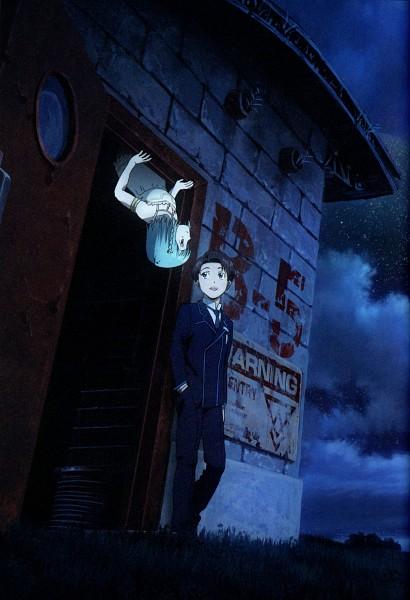 Tags: Anime, Sakasama no Patema, Patema, Eiji (Sakasama no Patema), Official Art, Mobile Wallpaper, Scan, Patema Inverted