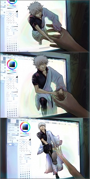 Tags: Anime, DoubleRagnarok, Gintama, Sakata Gintoki, PaintTool SAI, Out of Screen, Fanart, deviantART, Fanart From DeviantART, Gintoki Sakata