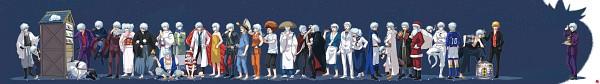 Tags: Anime, Hakumo, Gintama, Ginko (Gin Tama), Sakata Gintoki, Shiroyasha, White Curry Ninja, Sakata Kintoki, Ginpachi-sensei, Gin (Gin Tama), Paako, Sakata Gintoki Lawyer, Leukocyte King, Gintoki Sakata