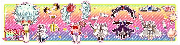 Tags: Anime, Soulberry, Gintama, Paako, Sakata Gintoki, Shiroyasha, Leukocyte King, Wig, Cotton Candy, Suigintou (Cosplay), Paper Dolls, Fanart, Pixiv, Gintoki Sakata
