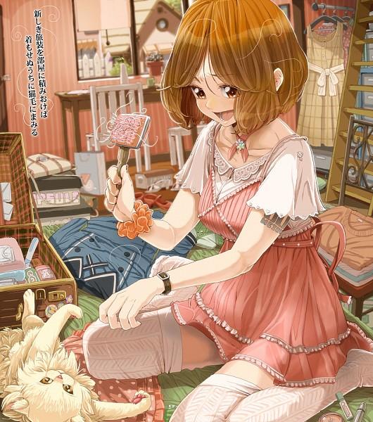 Tags: Anime, Daigoman, VOCALOID, Sakine Meiko, MEIKO (VOCALOID), Brush, Pixiv