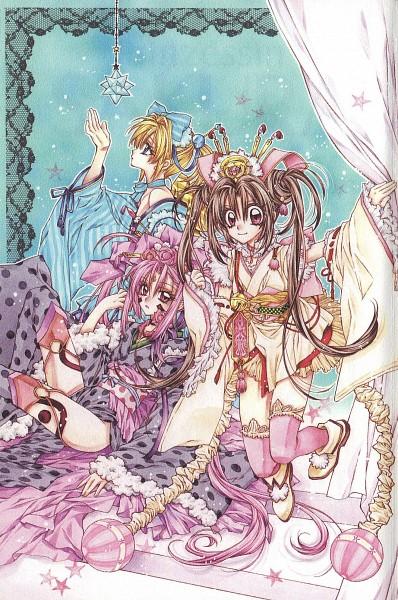 Tags: Anime, Tanemura Arina, Sakura-Hime Kaden, Kohaku (Sakura-hime Kaden), Sakura-hime, Rurijo, Mobile Wallpaper