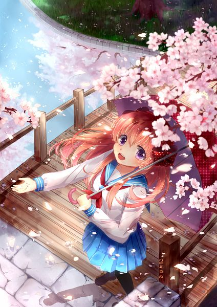 Tags: Anime, Pixiv Id 5088043, Gekkan Shoujo Nozaki-kun, Sakura Chiyo, Mobile Wallpaper