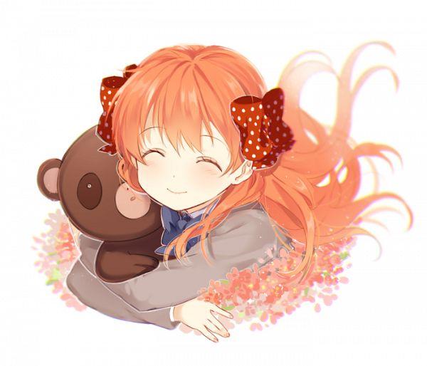 Tags: Anime, mery (dpqpqp550), Gekkan Shoujo Nozaki-kun, Sakura Chiyo, Raccoon, PNG Conversion