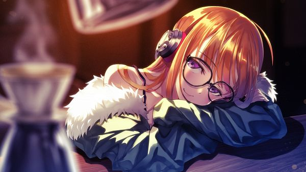 Tags: Anime, Matsuryu, Shin Megami Tensei: PERSONA 5, Sakura Futaba (Persona 5), 1600x900 Wallpaper, PNG Conversion, Wallpaper