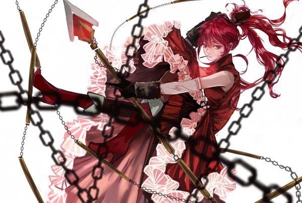 Tags: Anime, Pixiv Id 3648880, Mahou Shoujo Madoka☆Magica, Sakura Kyouko, Nunchaku, Brown Legwear, Pixiv, Fanart From Pixiv, Fanart