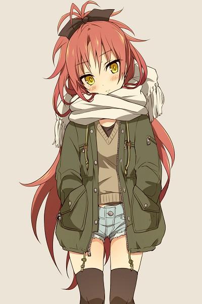 Tags: Anime, Yutsumoe, Mahou Shoujo Madoka☆Magica, Sakura Kyouko, Shot, Fanart, Mobile Wallpaper, Pixiv, Fanart From Pixiv