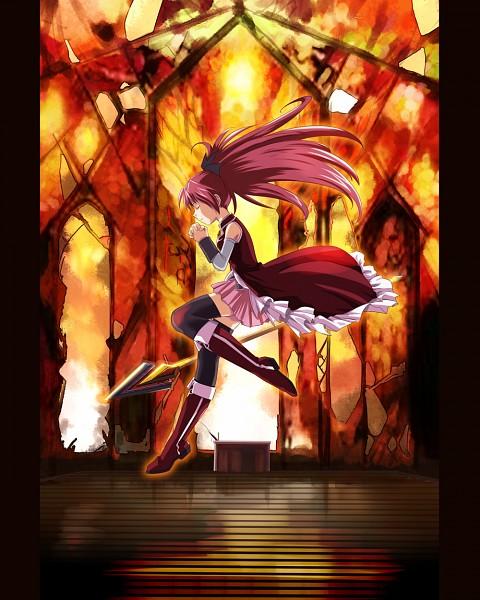 Tags: Anime, Ashi Ura, Mahou Shoujo Madoka☆Magica, Sakura Kyouko, Soul Gem, Praying, Fanart From Pixiv, Pixiv, PNG Conversion, Fanart