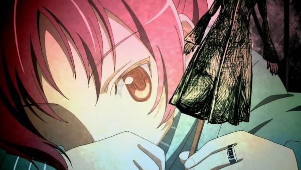 Tags: Anime, Mahou Shoujo Madoka☆Magica, Sakura Kyouko, Screenshot, Wallpaper