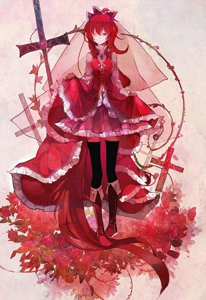 Tags: Anime, Susu, Mahou Shoujo Madoka☆Magica, Sakura Kyouko, Pixiv, Mobile Wallpaper, Fanart