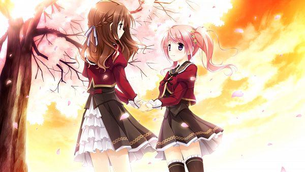 Tags: Anime, Kimishima Ao, Ensemble, Sakura Mau Otome no Rondo, Komine Manami, Mahara Aoi, Wallpaper, CG Art, HD Wallpaper