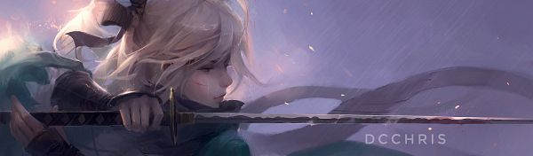 Tags: Anime, Dcchris, Fate/Grand Order, Sakura Saber, Fanart From Pixiv, Pixiv, Facebook Cover, Fanart