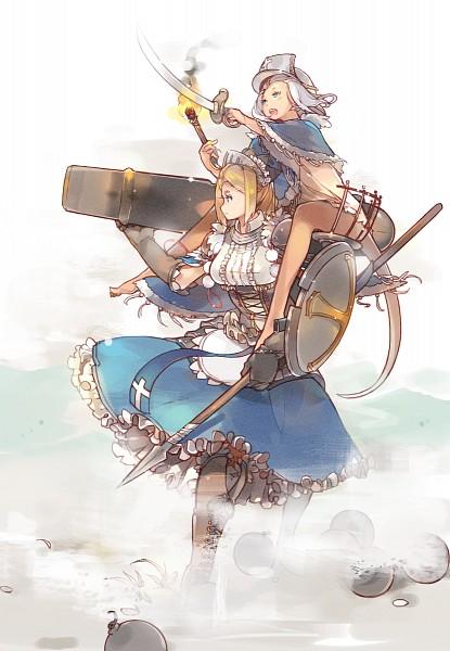 Tags: Anime, Sakura Sora, Cannon, Pixiv, Mobile Wallpaper, Pixiv Fantasia, Pixiv Fantasia: Sword Regalia
