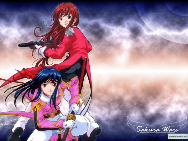 Tags: Anime, Sakura Taisen, Erica Fontaine, Shinguuji Sakura, Wallpaper, Edited, Sakura Wars
