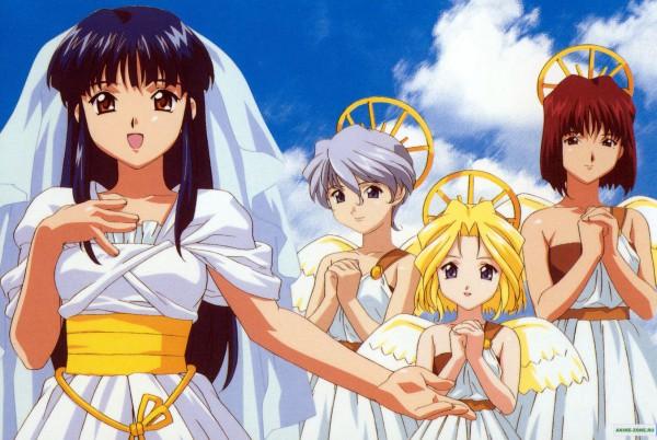 Tags: Anime, Sakura Taisen, Iris Chateaubriand, Shinguuji Sakura, Leni Milchstraße, Kanzaki Sumire, Sakura Wars