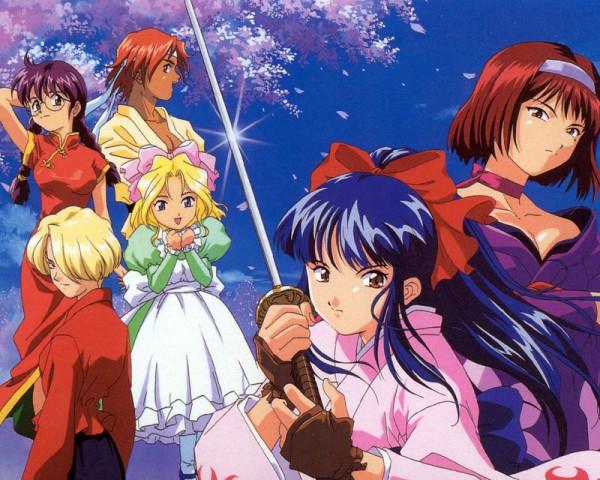 Tags: Anime, Sakura Taisen, Kohran Ri, Kanzaki Sumire, Tachibana Maria, Iris Chateaubriand, Kirishima Kanna, Shinguuji Sakura, Sakura Wars
