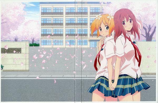 Tags: Anime, Sakai Kyuuta, Studio DEEN, Sakura Trick, Takayama Haruka, Sonoda Yuu, Scan, DVD (Source), Official Art