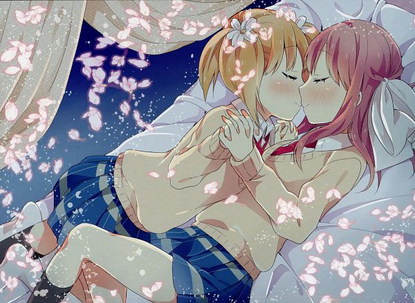 Tags: Anime, Tachi (Gutsutoma), Sakura Trick, Takayama Haruka, Sonoda Yuu, End Cards, Sakura Trick - End Cards, Official Art, Scan