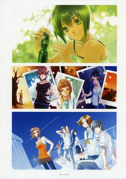 Tags: Anime, Shiina Yuu, Sakurada Reset, Garnet - You Shiina's Illustrations, Nakano Tomoki, Haruki Misora, Minami Mirai, Murase Youka, Asai Kei, Nonoo Seika, Souma Sumire, Character Request, Scan