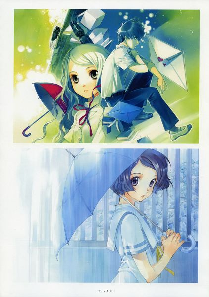 Tags: Anime, Shiina Yuu, Sakurada Reset, Garnet - You Shiina's Illustrations, Asai Kei, Haruki Misora, Official Art, Scan