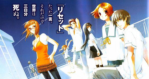 Tags: Anime, Shiina Yuu, Sakurada Reset, Murase Youka, Asai Kei, Nonoo Seika, Souma Sumire, Nakano Tomoki, Haruki Misora, Minami Mirai, Wallpaper, Novel Illustration, Official Art