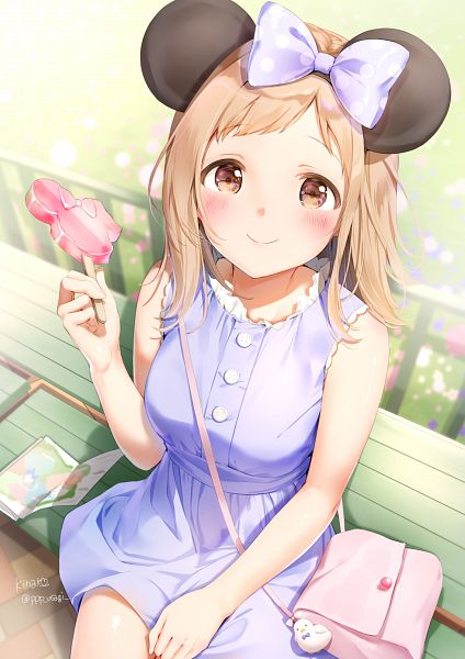 Tags: Anime, Shiratama Akane, The iDOLM@STER: Shiny Colors, Sakuragi Mano, Disneyland