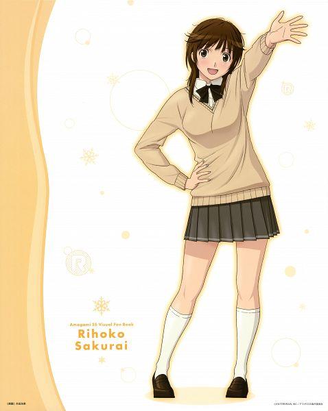 Tags: Anime, Amagami SS Visual Fan Book, Amagami, Sakurai Rihoko, Official Art, Scan