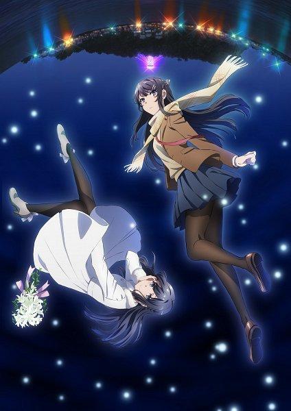 Tags: Anime, Tamura Satomi, CloverWorks, Seishun Buta Yarou Series, Seishun Buta Yarou wa Yume Miru Shoujo no Yume wo Minai, Sakurajima Mai, Key Visual, Official Art, Cover Image