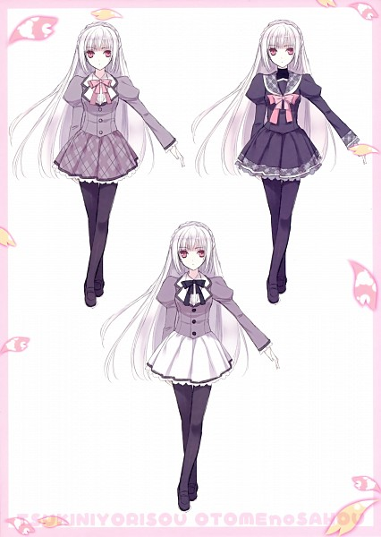 Tags: Anime, Suzuhira Hiro, Navel (Studio), Tsuki ni Yorisou Otome no Sahou Settei Shiryou Shuu, Tsuki ni Yorisou Otome no Sahou, Sakurakouji Luna, Official Art, Scan