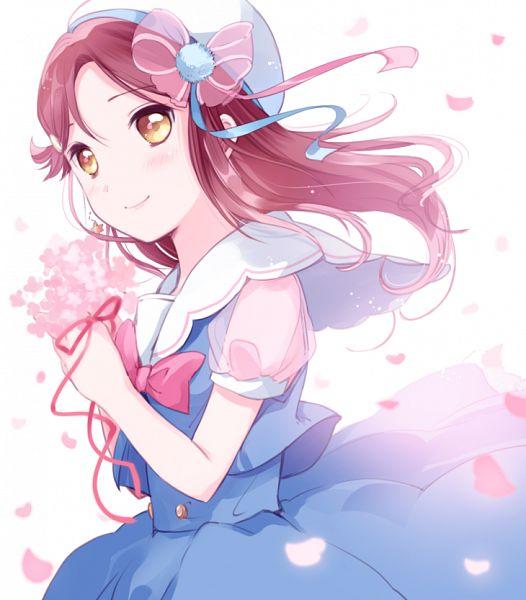Tags: Anime, Yamada Ako, Love Live! Sunshine!!, Sakurauchi Riko, Blurry Edge, Fanart From Pixiv, Pixiv, Scan, Fanart, Riko Sakurauchi