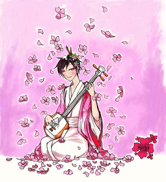 Tags: Anime, Pixiv Id 151617, DURARARA!!, Orihara Izaya, Shamisen, Sakuraya