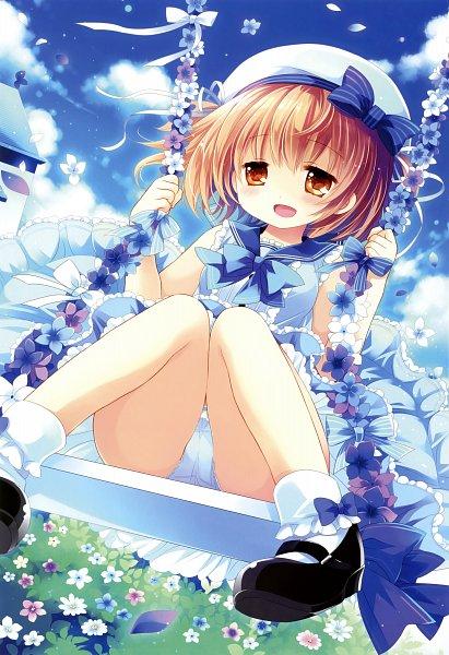 Tags: Anime, Sakurazawa Izumi, Swing, Scan, Mobile Wallpaper, Original