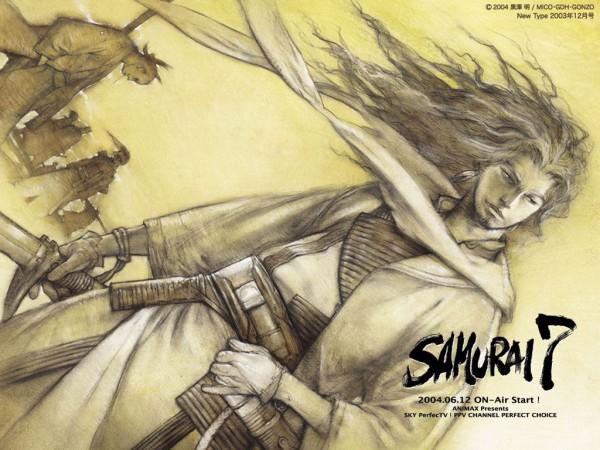 Tags: Anime, Samurai 7, Kyuzo, Katayama Gorobei, Kikuchiyo, Shimada Kanbe, Shichiroji, Katsushiro Okamoto