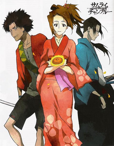 Tags: Anime, Samurai Champloo, Jin (Samurai Champloo), Kasumi Fuu, Mugen (Samurai Champloo), Scan