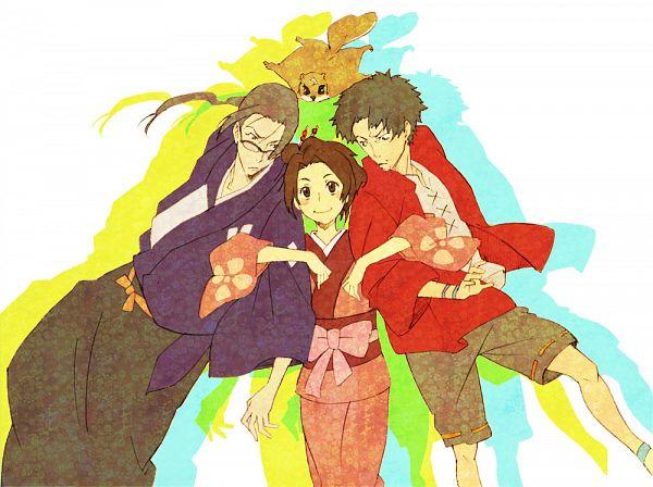 Tags: Anime, Pixiv Id 435716, Samurai Champloo, Jin (Samurai Champloo), Kasumi Fuu, Mugen (Samurai Champloo)