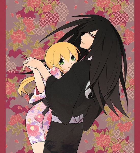 Tags: Anime, Pixiv Id 285214, Samurai Deeper Kyo, Demon Eyes Kyo, Shiina Yuya, Yin Yang (Symbol), Pixiv, Fanart
