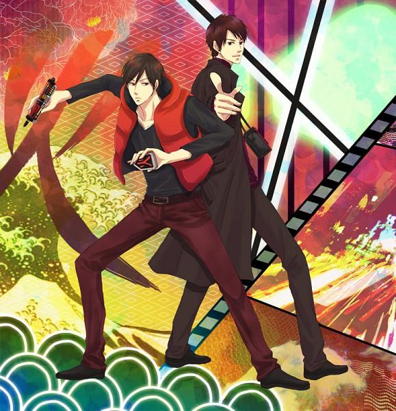 Tags: Anime, 3zen, Kamen Rider Decade, Samurai Sentai Shinkenger, Kamen Rider Series, Shiba Takeru, Pixiv
