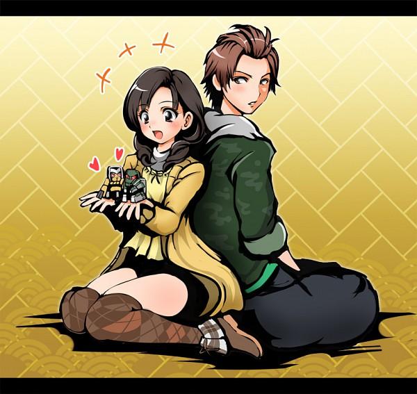 Tags: Anime, 1041 (Artist), Samurai Sentai Shinkenger, Hanaori Kotoha, Tani Chiaki, Pixiv