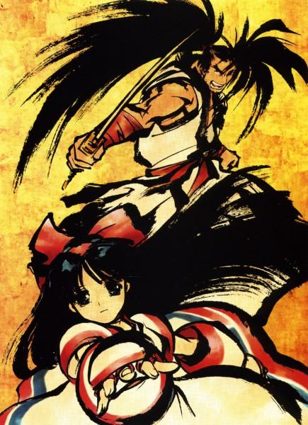 Tags: Anime, Kita Senri, Samurai Spirits, Nakoruru, Hoahmaru, Ainu Clothes, Official Art