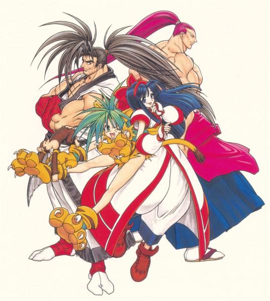 Tags: Anime, Samurai Spirits, Kibagami Genjuro, Hoahmaru, Paku Paku, Nakoruru, Chamcham, Tiger Print, Artist Request