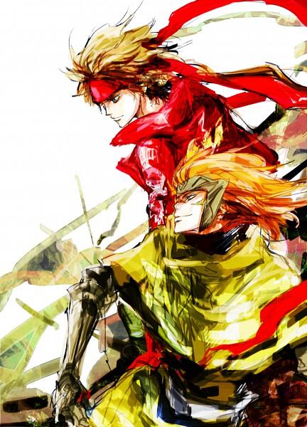 Tags: Anime, Noudondon, Sengoku Basara, Sarutobi Sasuke, Sanada Yukimura (Sengoku Basara), Fanart, Pixiv, Mobile Wallpaper