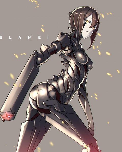 Tags: Anime, Ban (Pixiv 49570), Blame!, Sanakan, 1024x1280 Wallpaper, Pixiv, Fanart From Pixiv, Wallpaper, Fanart
