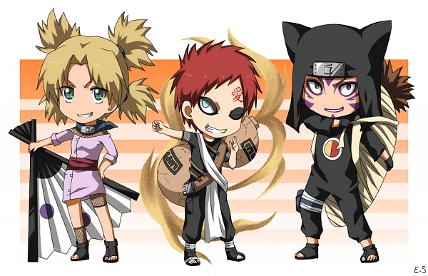 Tags: Anime, NARUTO, Temari (NARUTO), Kankurou, Gaara, Quad Tails, Jinchuuriki, Sand Siblings