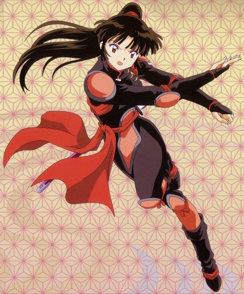 Tags: Anime, InuYasha, Sango, Scan, Official Art, Self Scanned