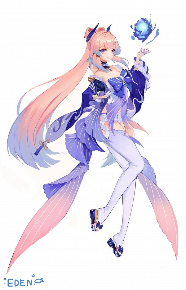 Tags: Anime, Edendenoden, Genshin Impact, Sangonomiya Kokomi, Fanart, Fanart From Pixiv, Pixiv